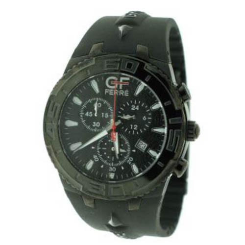 Gf Ferre Black Steel Case Black Rubber Strap GF.9610M/19