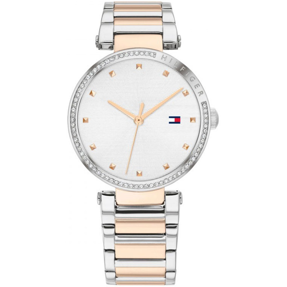 TOMMY HILFIGER LYNN CRYSTALS TWO TONE STAINLESS STEEL BRACELET