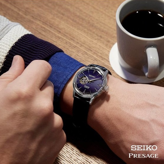 Seiko Presage Automatic Blue Leather Strap SSA405J1