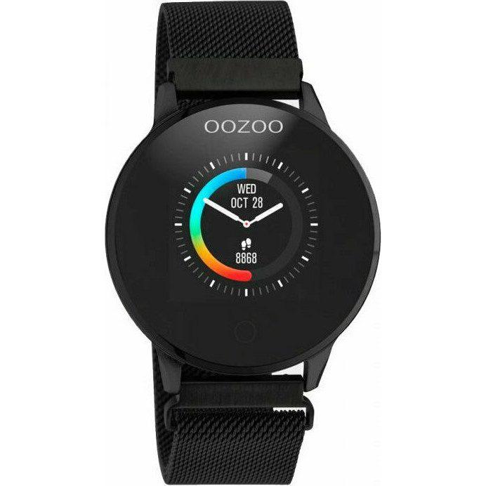 Oozoo Black Stainless Steel Bracelet Smartwatch Q00119