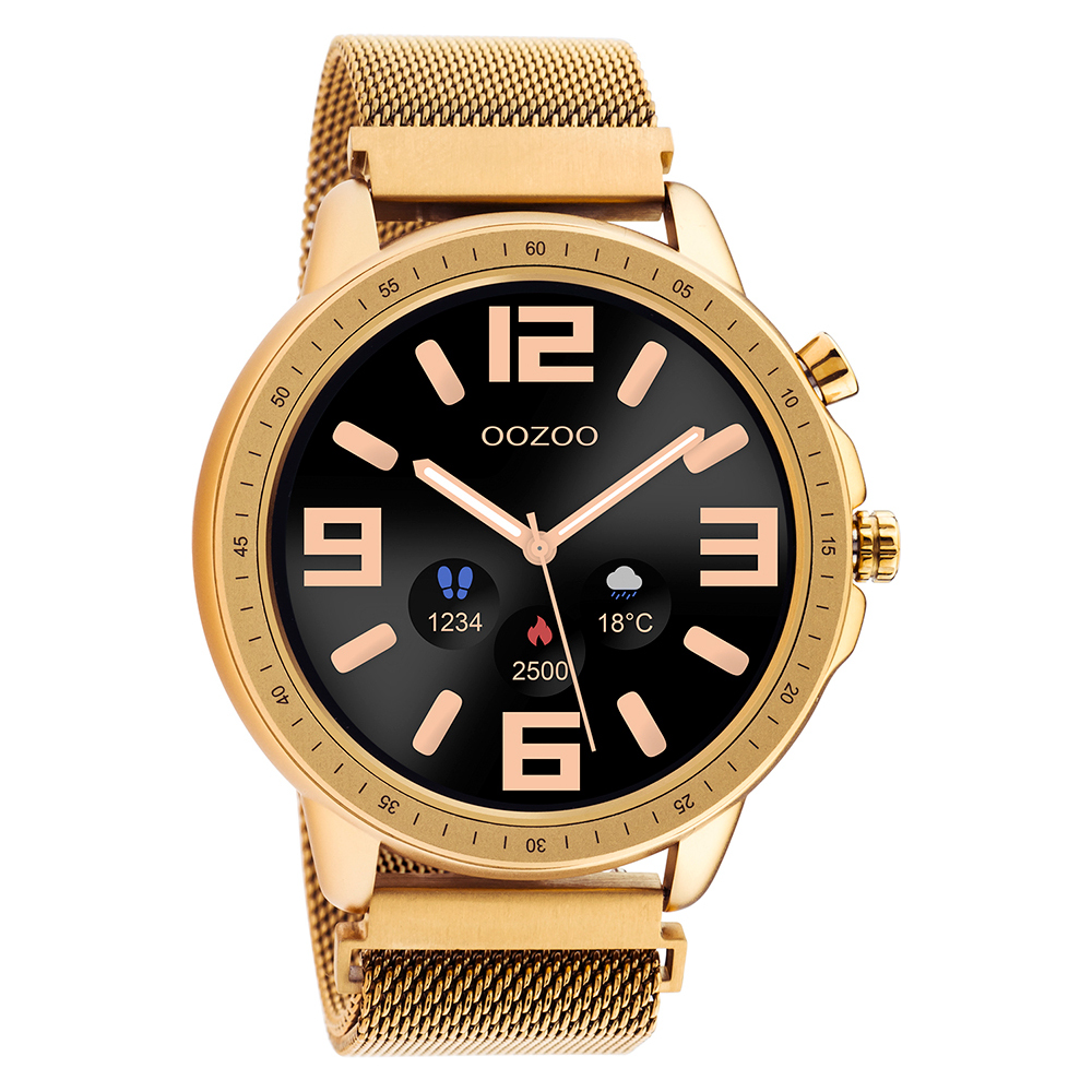 Oozoo Rose Gold Stainless Steel Bracelet Smartwatch Q00307
