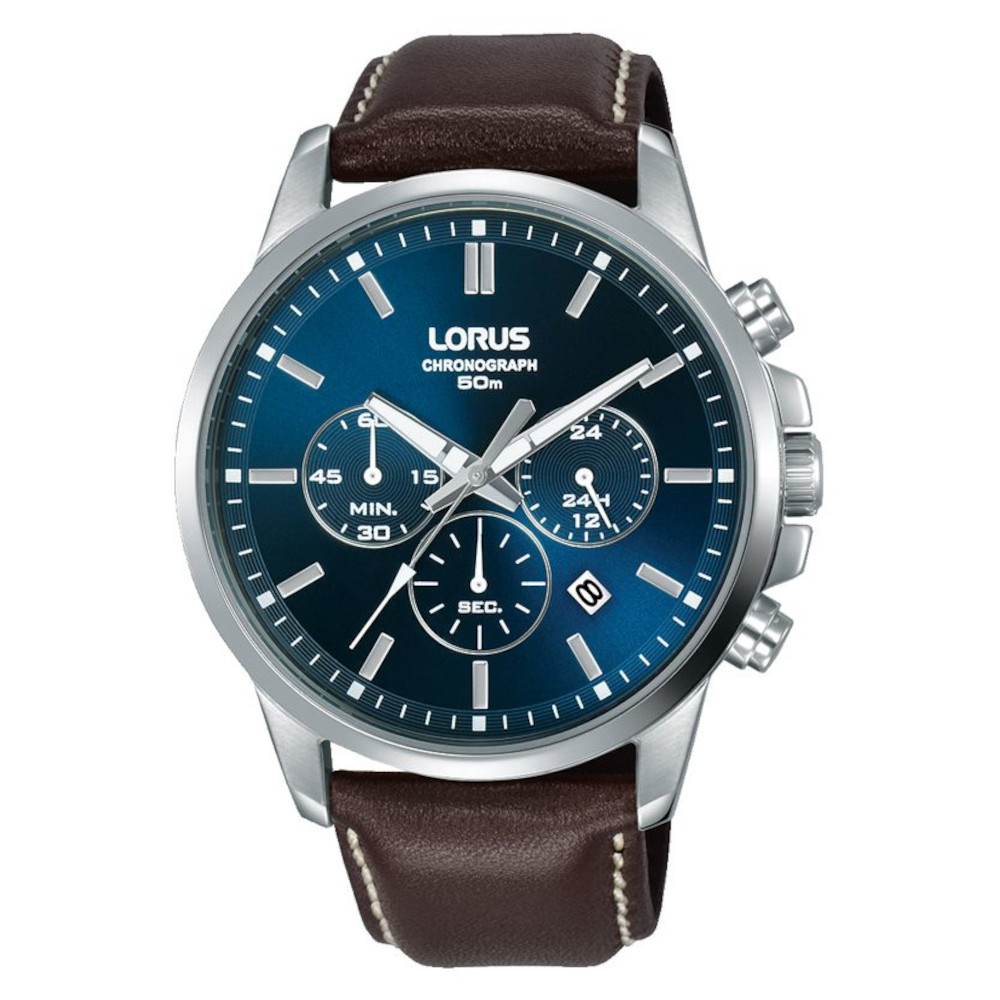 Lorus Sports Chronograph BrownLeather Strap RT389GX9